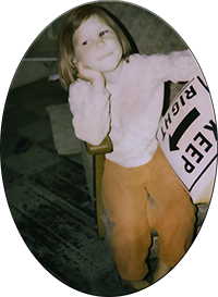 An image of the site's webmaster at age four.